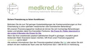 Finanzierung mediziniescher Behandlungen